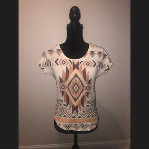 Aztec Printed Top